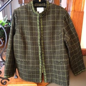 Susan Graver Style 1X Beaded Tweed Blazer